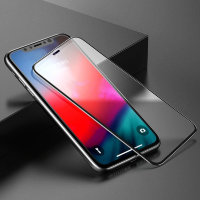 Стекло Baseus 0.3mm Rigid-edge curved-screen tempered glass screen protector для iPhone XR Чёрное